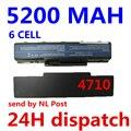 5200 mah batería del ordenador portátil para acer aspire 4710 4720 5335z 5338 5536 5542 5542g 5734z 5735 5740g 7715z 5737z 5738