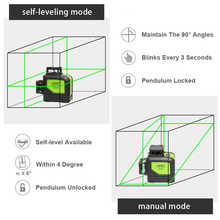 XEAST XE-902 8 Lines Green Laser Levels Self Leveling 360 Horizontal and VeArtical Cross Super Powerful 3D Green Laser Beam Line