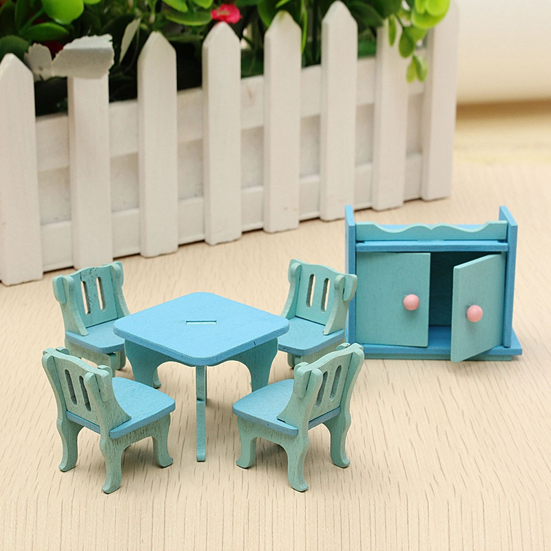 cheap dolls house furniture sets. wooden doll house miniature diy dining room furniture set toy gift for children kids pretend role cheap dolls sets i