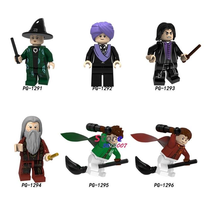 Single Building Blocks Harry Potter Figures Quirinas Chino Professor Snape Olivewood Dumbledore Collection toys for children свитшот print bar professor snape