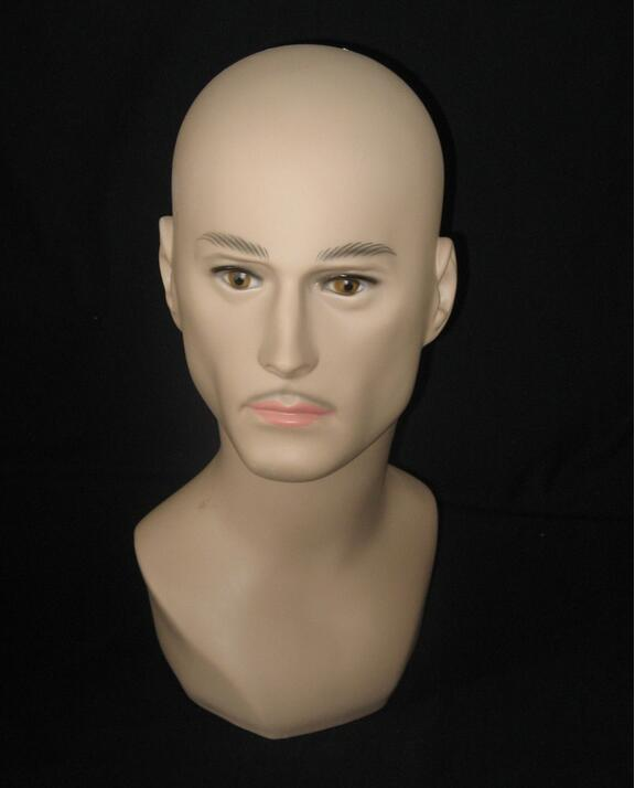 hair wig head hat,mannequin heads for sale display, headphones Suitable,mannequin male M00487