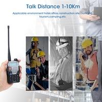 מכשיר הקשר dual band ניו Baofeng UV-5RE מכשיר הקשר Dual Band VHF UHF 136-174 / 400-520MHz FM במקלט נייד 5W שני הדרך כף יד רדיו סורק (3)