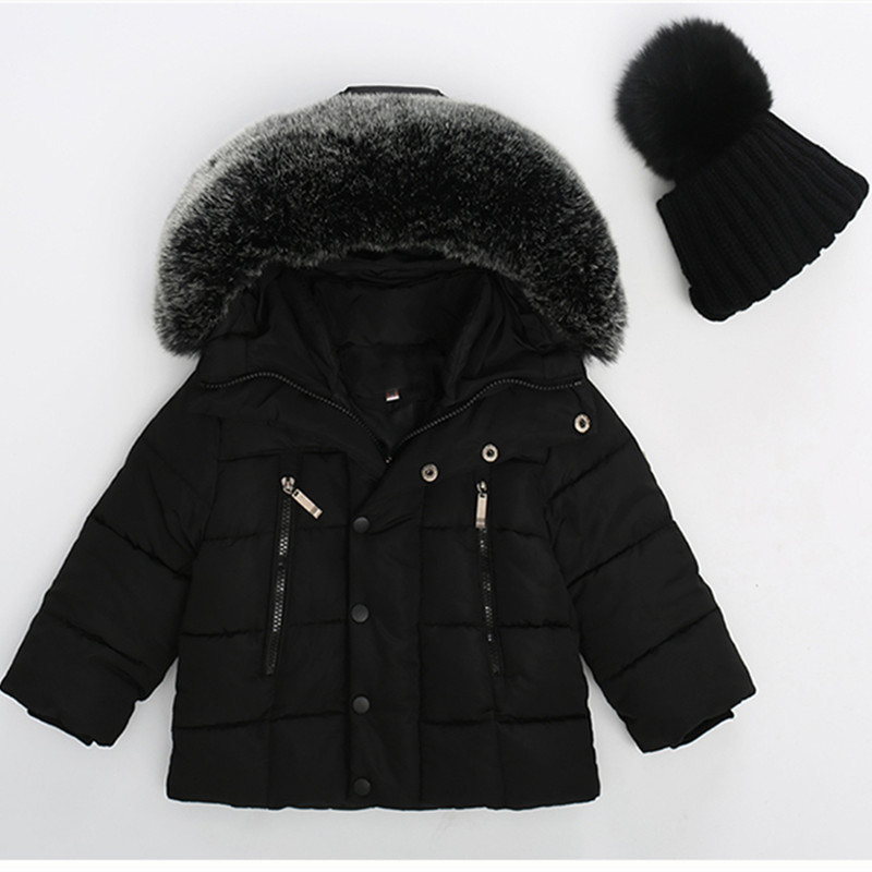 2017 Autumn Winter Jacket For Girls Clothes Cotton Padded Hooded Kids Coat Children clothing Boys Parkas enfant Jackets & Coats children thicken warm winter coat kids cotton padded jacket wadded outwear thickening boys girls fur hooded parkas clothes y105