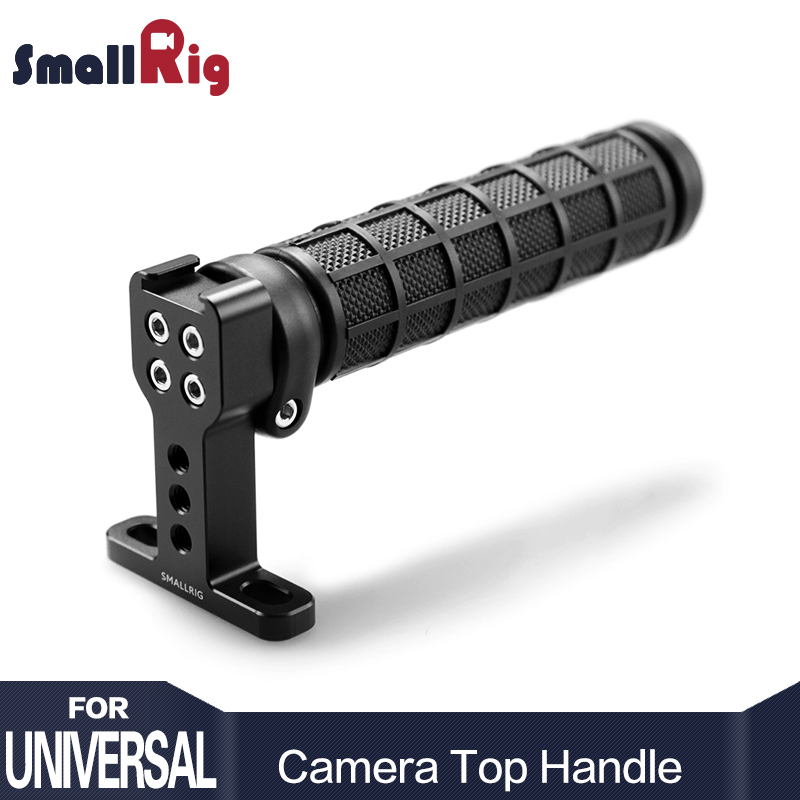 SmallRig Rubber Top Handle Grip with Top Cold Shoe Base for DSLR Camera Cage Video Camcorder Action Stabilizing Universal 1446 yelangu aluminum alloy camera video cage kit film system with video cage top handle grip matte box follow focus for dslr