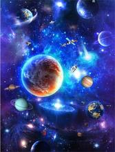 3d pvc flooring custom photo mural picture wall sticker Star Galactic Universe floor painting room wallpaper for walls 3d