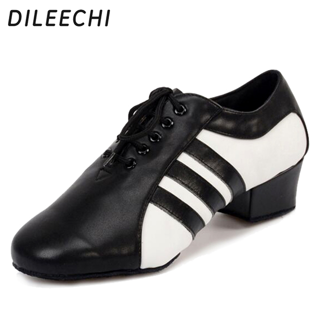 dd7412ca5 DILEECHI new style Men s Genuine leather Latin dance shoes black male  Ballroom dancing shoes comfortable Party shoes