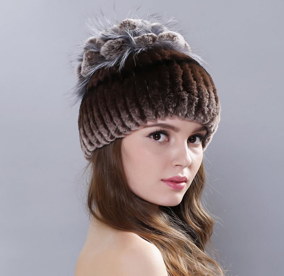 2019 Hiver de haute qualité femmes Chapeaux de fourrure de vison naturel chapeau de fourrure pour les femmes dames casual bérets chapeaux femmes casquettes