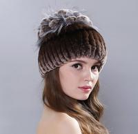 2019 Winter high quality women's fur Hats natural mink fur hat for women ladies casual berets hats women caps