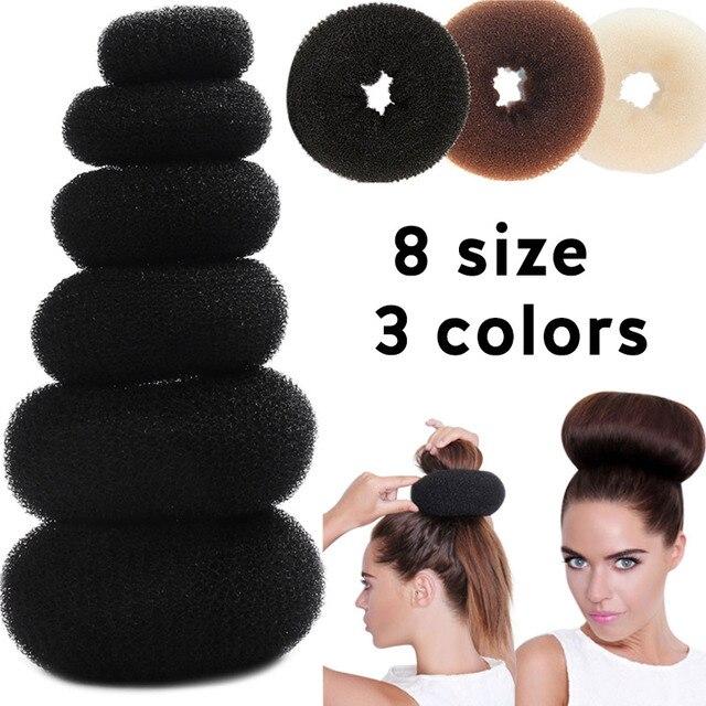 Pelo Bun Maker Donut magia esponja de espuma de fácil gran anillo pelo productos de herramientas de peinado accesorios para el cabello para las niñas y las mujeres señora