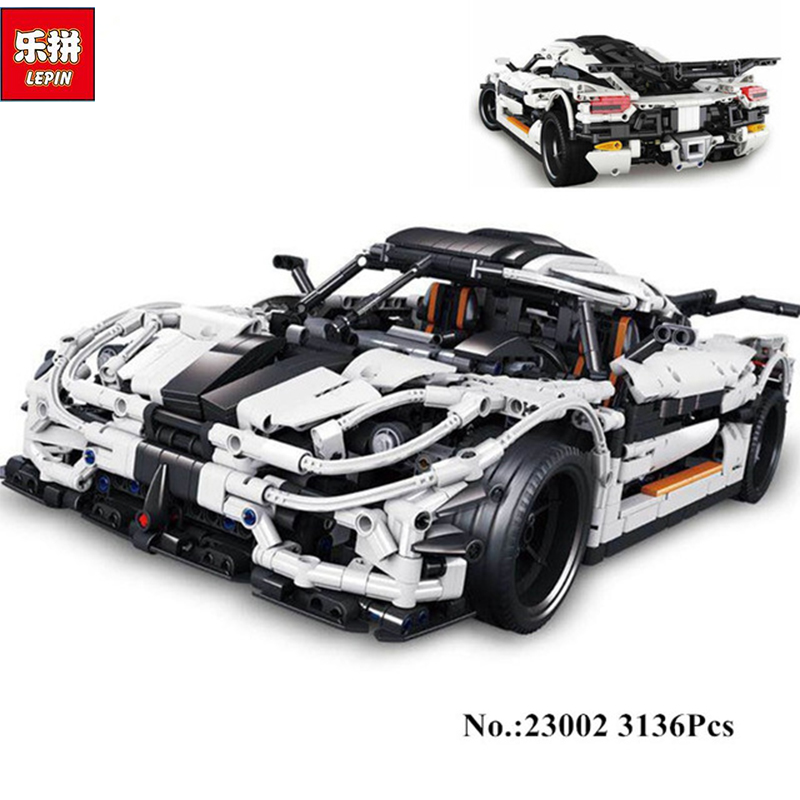Lepin 23002 3136Pcs Technic Series The MOC-4789 Changing Racing Car Set Children Educational Building Blocks Bricks Toys Model lepin 20076 technic series the mack big