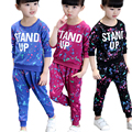 Children Sets Girls Cotton Fashion Sports Suits Girl's sports suit fashion prints spring and autumn period  new set Sports sets