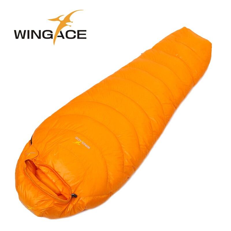 Wingace заполнить 1000 г гусиный пух спальный мешок для взрослых мумия Сверхлегкий Поход зимой на открытом воздухе оборудование кемпинг сна сумки на заказ