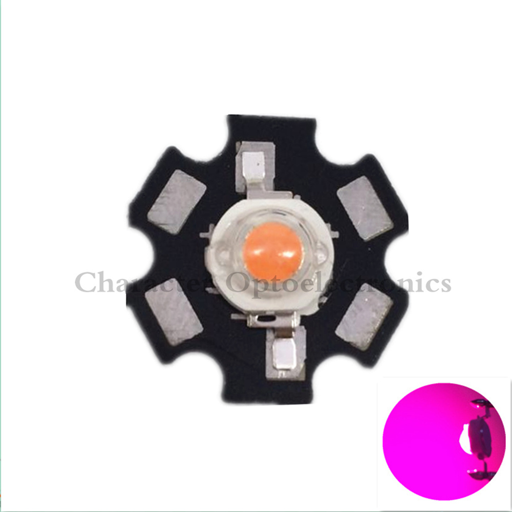 10pcs1W/3W full spectrum led grow chip with PCB star , led grow lights ,broad spectrum 400nm-840nm led diode for indoor plant