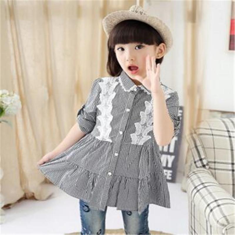 43acc1adc Girls shirt 2017 spring models the new Korean children s clothing ...