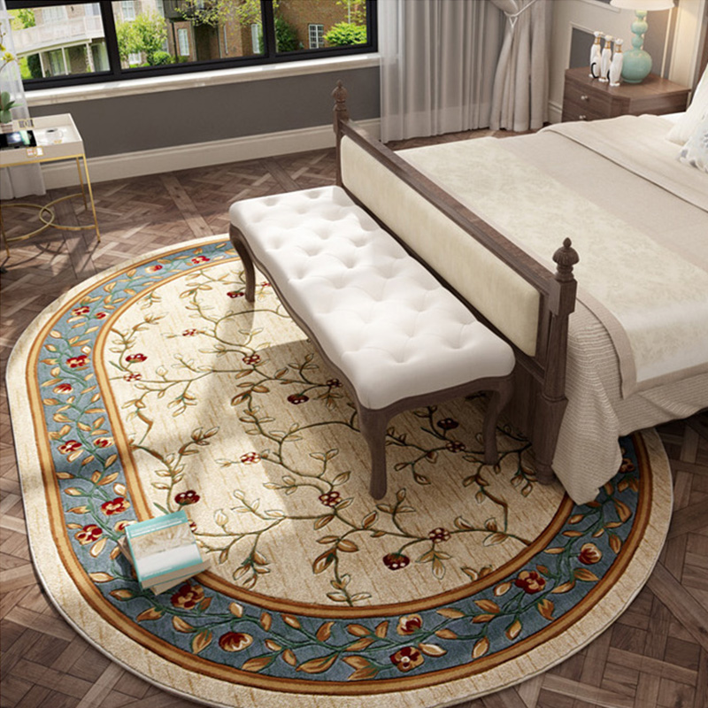 Oval Carpets For Living Room Home Decor Large Floral Carpet Bedroom Sofa Coffee Table Rug Study Room Floor Mat Nordic