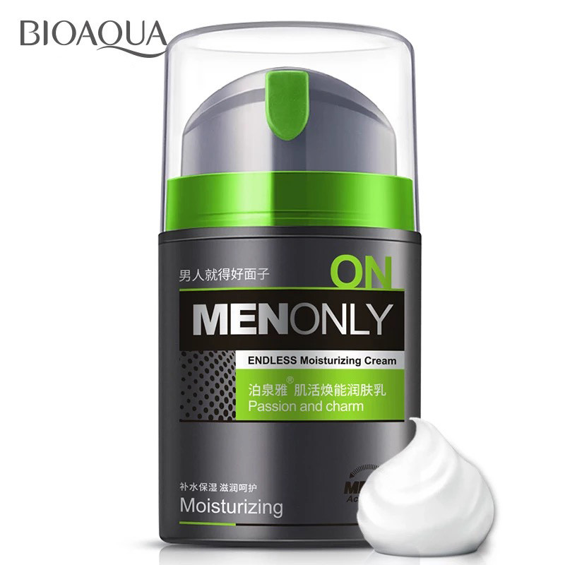 BIOAQUA Men Moisturizing Oil-control Face Cream Anti Wrinkle Anti Aging Whitening Day Cream Skin Care 60g brand bioaqua silk protein deep moisturizing face cream shrink pores skin care anti wrinkle cream face care whitening cream page 7