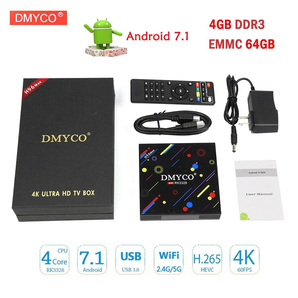 H96 Max H2 Android 7.1 TV Box 4GB 64GB RK3328 Quad Core 64bit 4K Smart Tv BT4.0 USB 3.0 WiFi 5.0 Set-Top Box Media Player PK X9S andrid 7 1 tv box h96 max h2 rk3328 quad core 64bit 4gb 32gb ddr wifi 2 4g 5g bluetooth media player support multi language