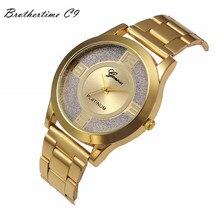 Relogio Feminino Luxurious Ladies Crystal Stainless Metal Quartz Analog Wrist Watch Relojes Mujer Montre Clock