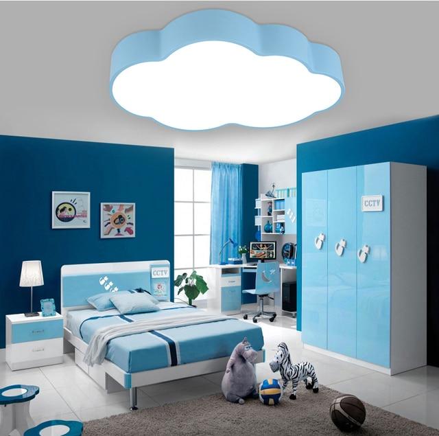 Moderne brève enfants chambre bleu nuage lampe de plafond de fer maison déco salle à manger
