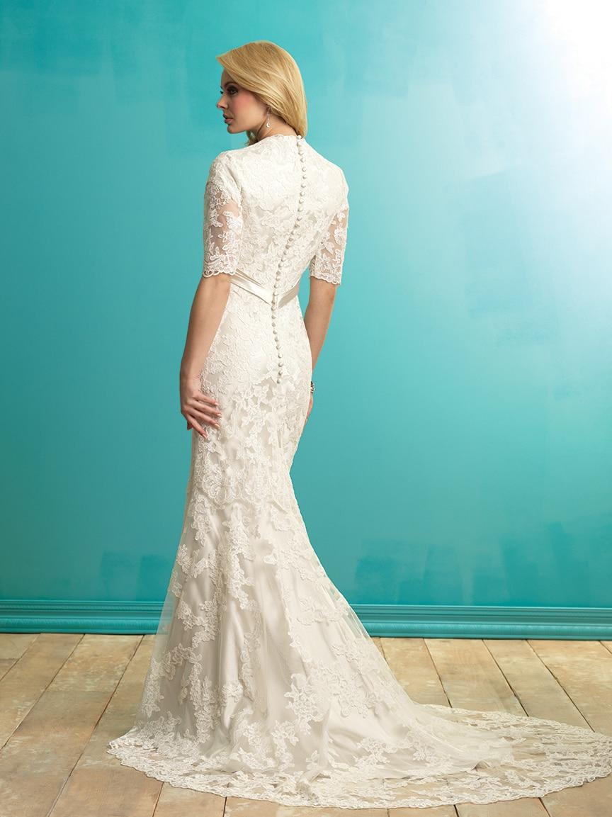 Mermaid Lace Wedding Dresses Modest Half Sleeves Vintage Country ...