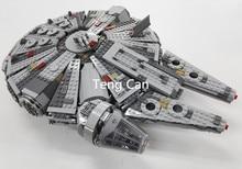 1381 unids Star Wars 05007 Millennium Falcon Figura marvel minifigures Niños Juguetes de bloques de construcción de Juguetes 10467 Compatible con Leping