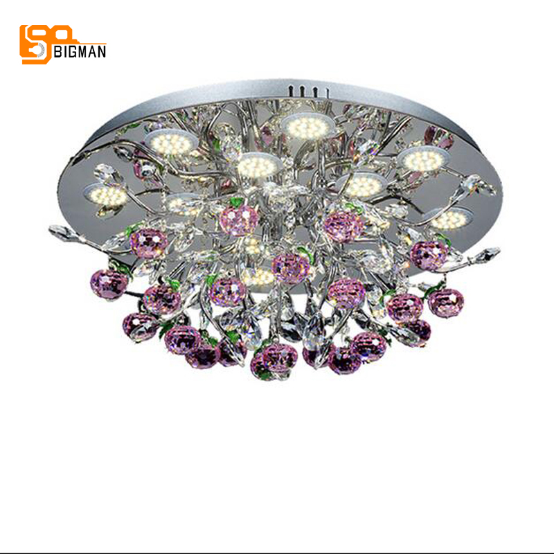 new beautiful crystal ceiling lamp LED ceiling lights round lustre pink living room bedroom plafonnier led crystal lighting lustre de plafond moderne modern led ceiling lights living room bedroom luminaire plafonnier white black round led ceiling lamp
