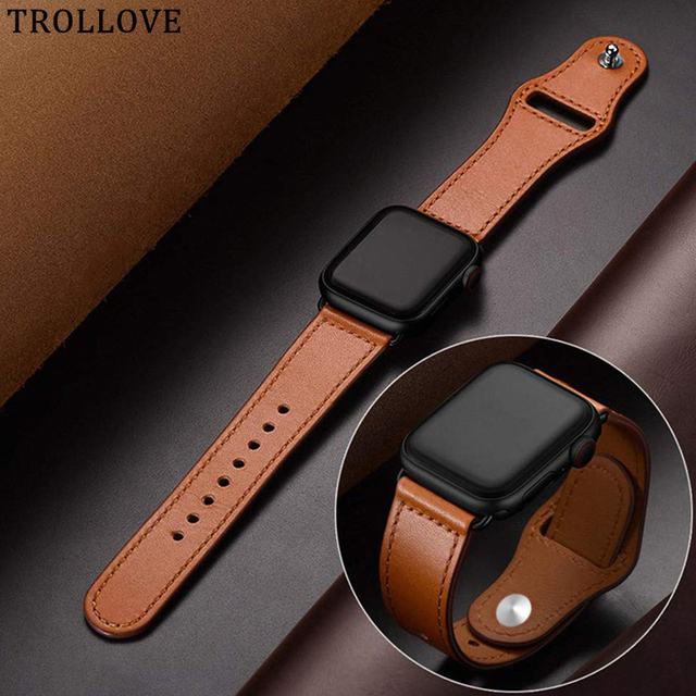 Sports Leather Loop Strap for Apple Watch Band 4 42mm 38mm Watchband for iwatch 44mm 40mm Series 3/2/1 Bracelet Belt Accessories