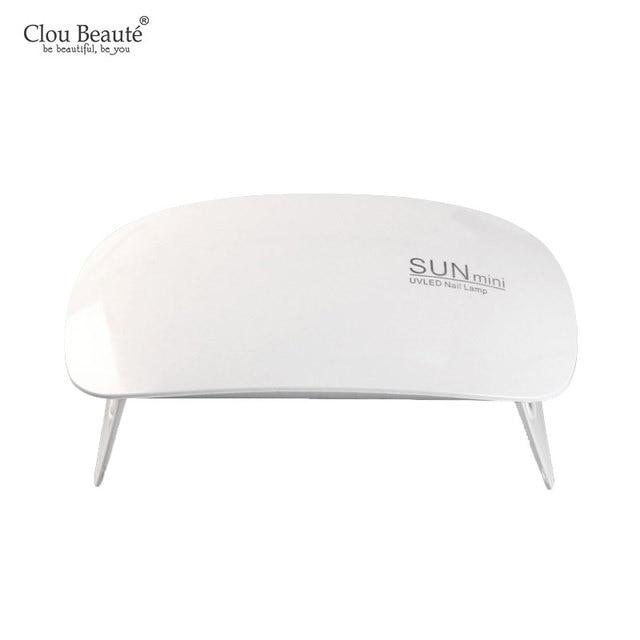 Clou Beaute Sun Mini Uv Led Lamp Portable Usb Charge Nail Dryer Home