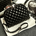 Fashion Vintage Ladies Shell Bag Women Leather Messenger bags Purses retro Mini Diamond lattice design Shoulder Crossbody bags