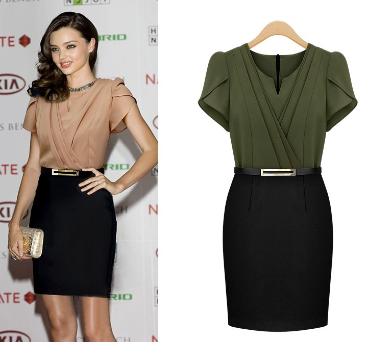 Vintage Sexy Woman Clothing Summer Style Women Office Dress Work Wear 2015 High Waist Elegant