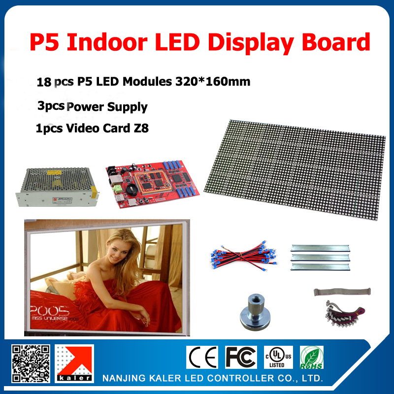 18pcs Indoor LED display modules P5 960*960mm indoor full color LED screen sign + 3pcs power supply +1pcs video card18pcs Indoor LED display modules P5 960*960mm indoor full color LED screen sign + 3pcs power supply +1pcs video card
