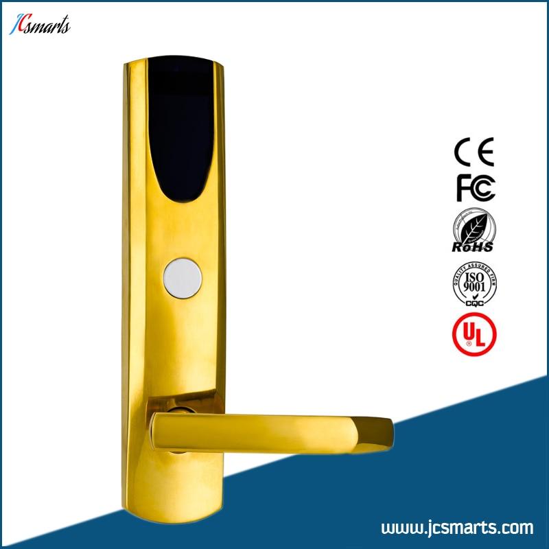 Hotel key card lock system RFID card lock with card reader hotel lock system rfid t5577 hotel lock gold silver zinc alloy forging material sn ca 8037