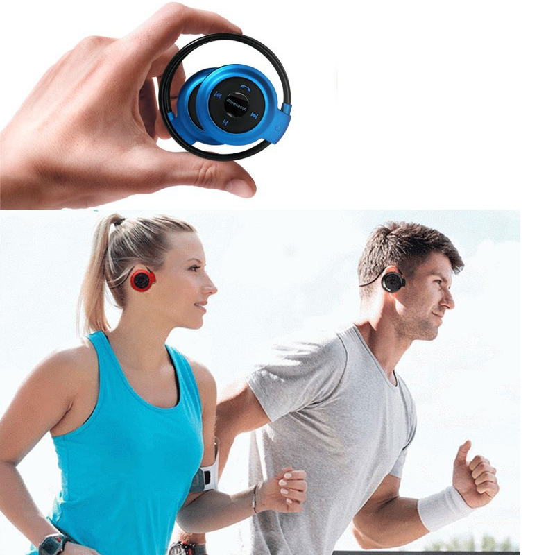 HCQWBING Bluetooth Wireless Headphones Mini503 Sport Headsets Music Stereo Earphones+Micro SD Card Slot+FM Radio With Mic