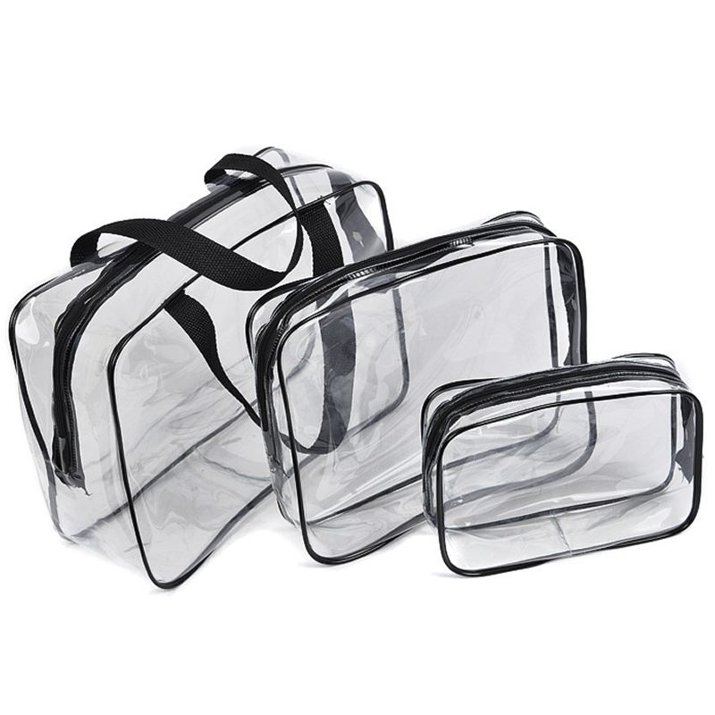 Transparent PVC Make Up Bags Travel Organizer Clear Makeup Case Beautician Cosmetic Bag Beauty Case Toiletry Pouch Wash Kit Box