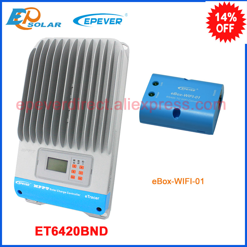 ET6420BND MPPT 60A with wifi BOX 60amp 48V solar portable controller Android APP wifi connect BOX