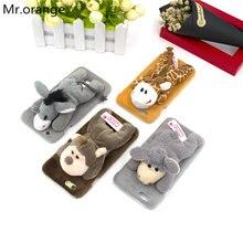 Здесь можно купить  Toy Animal Lie Prone on Plush Cover Case for iPhone 7 7plus 6 6s + Plus Cute Cartoon Donkey Monkey Giraffe Sheep Gift for Friend