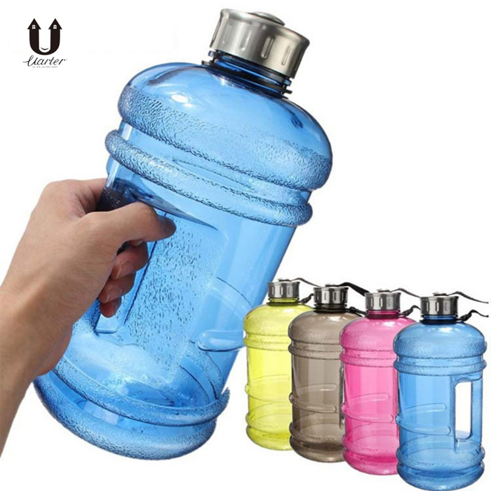 Uarter 2.2L High quality Creative Fitness Water Bottles Plastic Sports Water Bottle Large-capacity Exercise Water Jug