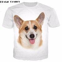 PLstarคอสมอสสุนัขน่ารักพิมพ์3dผู้หญิงเสื้อยืด/ผู้ชายฤดูร้อนสะโพกhopพิมพ์เสื้อ