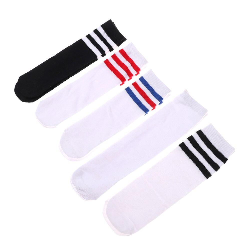1 Pairs Kids Girls Boys Cotton Knee High Warm Socks For Old School Children Baby Long Tube Leg Football Stripes Socks