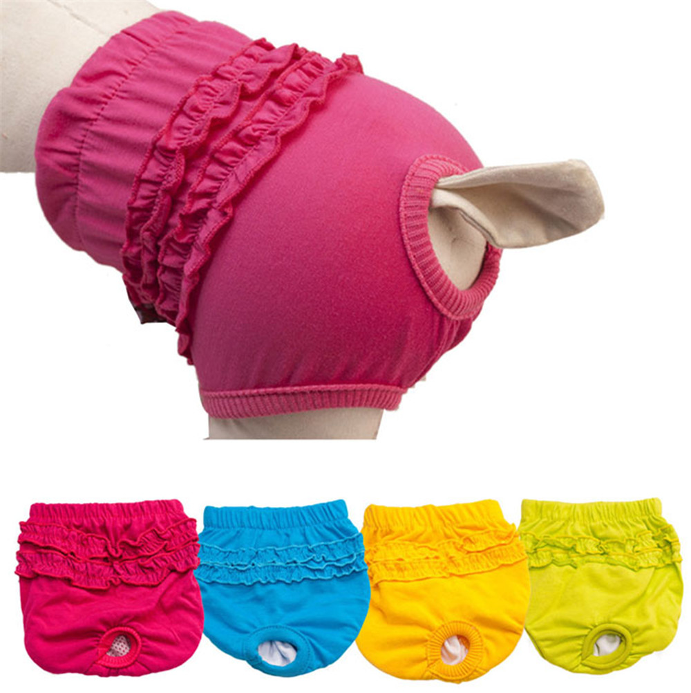 Pet Dog Panty Brief Bitch In Season Sanitary Pants For Girl Female Cotton Pet Accessories XS S M L 2018 Hot Sale #01