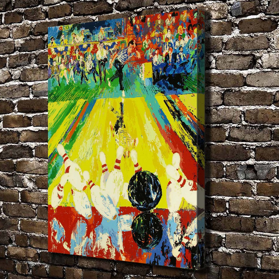 ▽A1905 LeRoy Neiman Abstract Bowling Landscape, HD Canvas Print ...