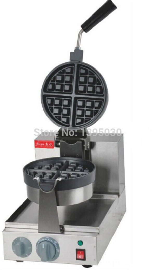 1ps Fy-2205 rotating waffle electric heating waffle single head stainless steel waffle mcmuffins machine 912 v809 2205