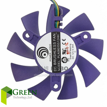 New POWER LOGIC DC12V 0.35A  PLA08015S12HH 75mm diameter 42mm hole pitch For Colorful GT240 430 630 9800 9600 Graphics card fan