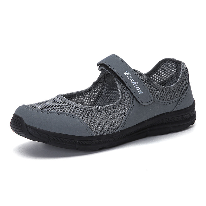 Fond Mesh 2018 ardoisé Respirant Nouveau Chaussures Noir Espadrilles Casual Air Plat Printemps rouge Maille gris Femmes Mou D'été Pour FIPwqIgS