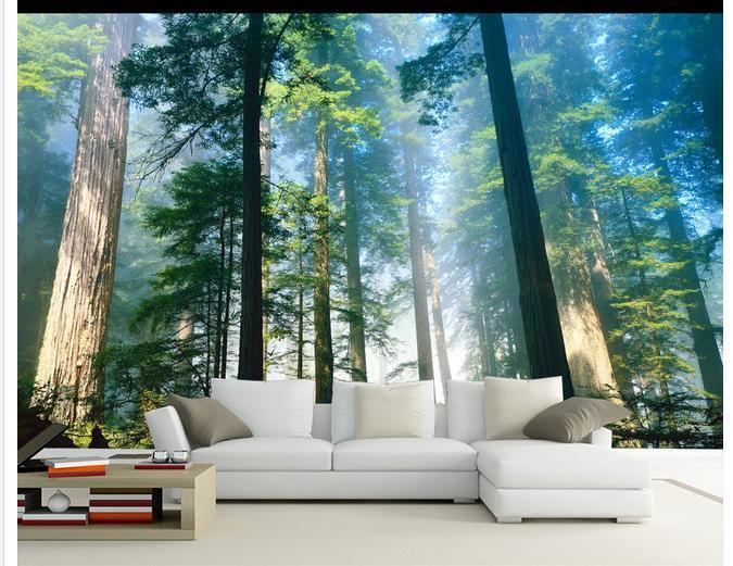 Купить с кэшбэком Custom photo wallpaper 3d tv murals wallpapers  Dreamy forest living room background wall paintings wall papers