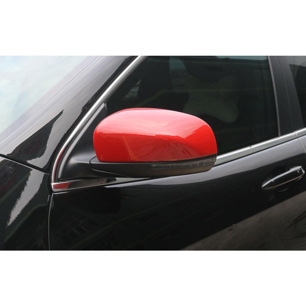 bc8a18f838ca BARBECUE   FUKA 2x Rouge Voiture Côté Porte Miroir Rétroviseurs Couvercle  Style Trim Fit Pour JEEP Cherokee 2014-2016
