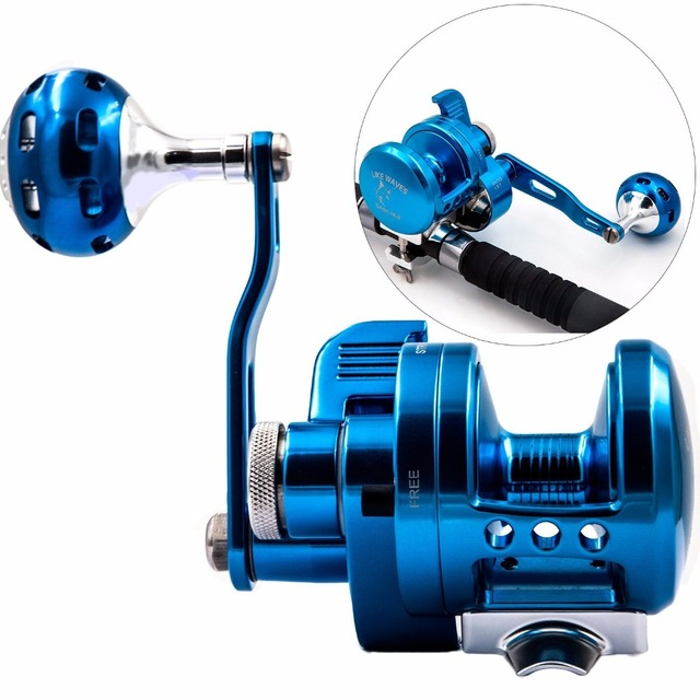 Aluminum CNC Machined Fishing Reel Lure Fishing Reel 9BB+1 Bait Casting drum wheel Trolling Reel With Warning System