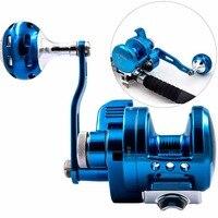 Aluminum CNC Machined Fishing Reel Lure Fishing Reel 9BB+1 Bait Casting drum wheel Trolling Reel With Warning System
