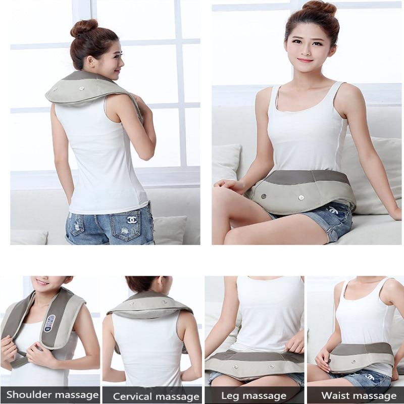 Finger pressure cervical back and neck massager shawl electric roller massage manual China home car massage machine