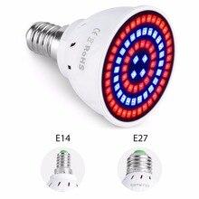 Лампа для роста растений E27 полный спектр E14 завода лампы Светодиодный прожектор GU10 Grow Lights 220V B22 ампулы MR16 Гроу тенты для освещения 220V